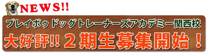 2016年11月プレイボゥドッグトレーナーズ アカデミー関西校大阪教室開講!