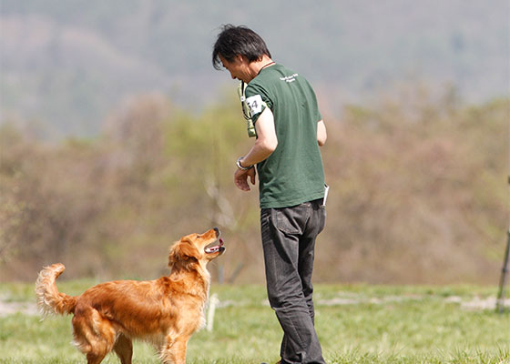 森山名誉校長と愛犬ボイシー