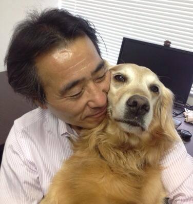 森山先生と愛犬ボイシー君