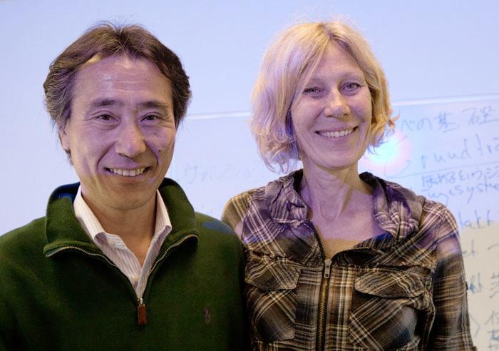 エヴァさんと、ストックホルム、スウェーデンにて(2014年5月)